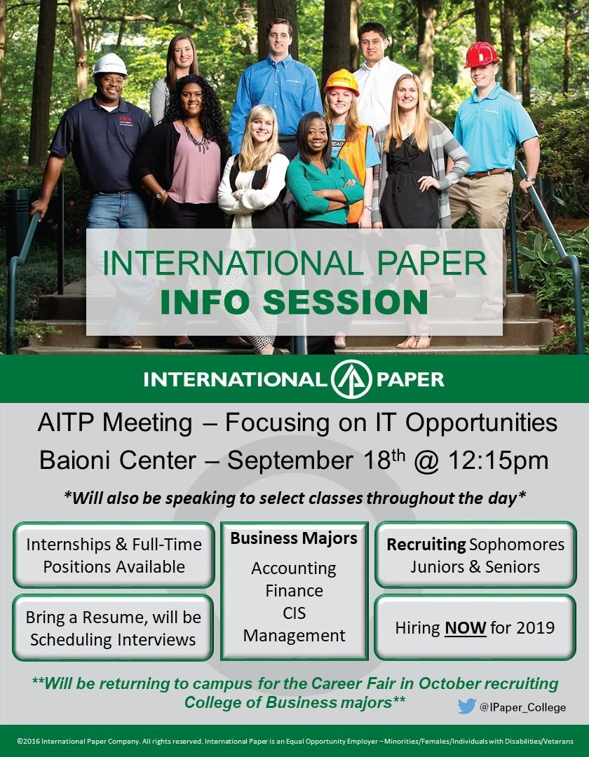 International Paper Info Session