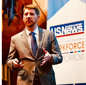 Charles Eaton speaks at U.S. News Workforce of Tomorrow