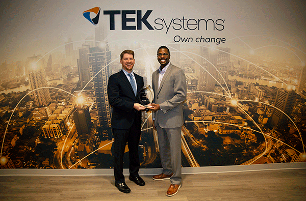 Charles Eaton Giving Award to TEKsystems