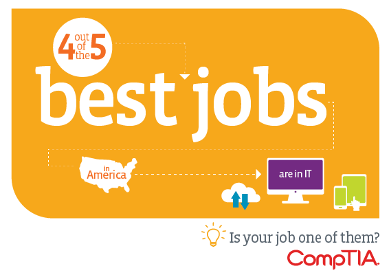 4 out of the 5 best jobs in America are in IT