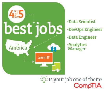 Data scientist, DevOps engineer, data engineer and analytics manager rank in the top five of Glassdoor's 50 best jobs in America