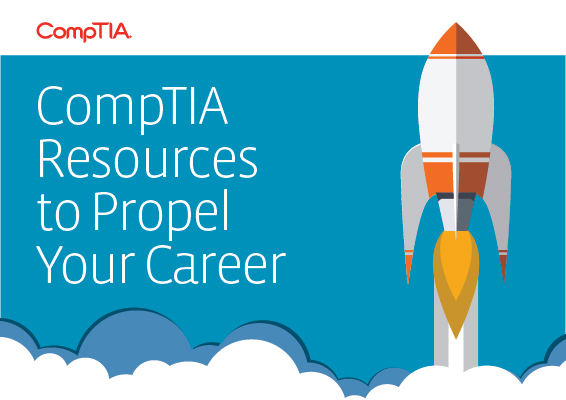 A rocket blasts off as CompTIA helps propel your career