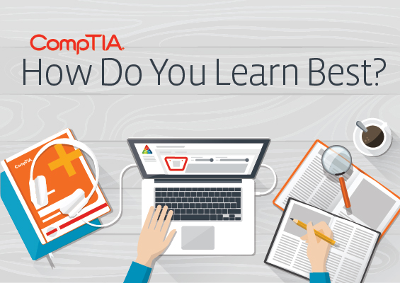 How do you learn best? An image showing a laptop, books, mobile devices and more.