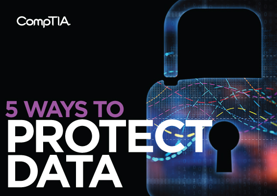 The headline 5 Ways to Protect Data with an image of a padlock
