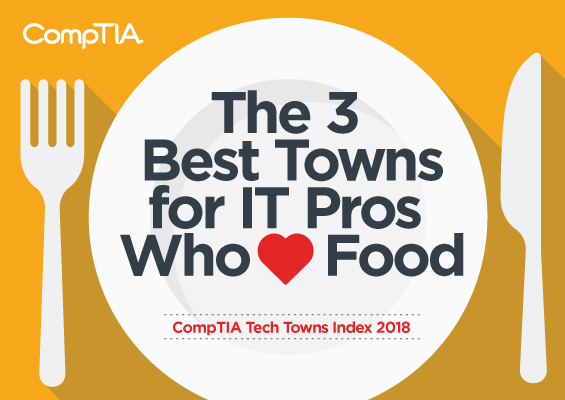 The three best towns for IT pros who love food