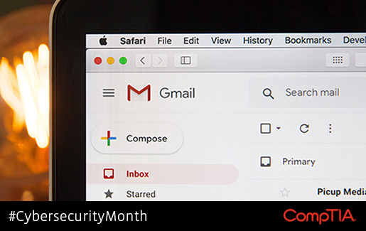 A photo of Gmail open on someone's computer
