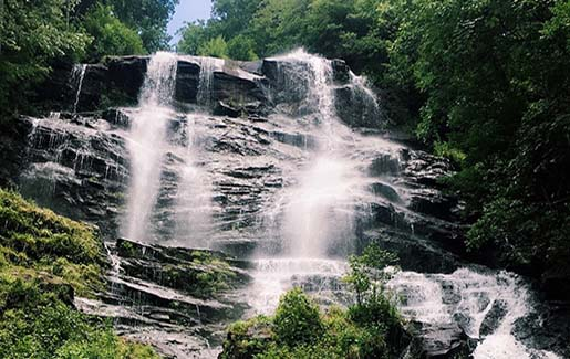 A waterfall outside of Atlanta