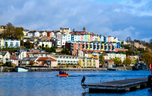 A photo of the harbour in Bristol.