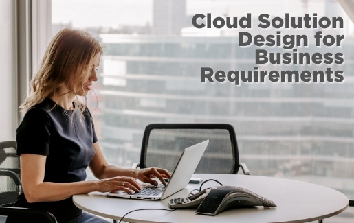 Man at desk working. Cloud Solution Design for Business Requirements