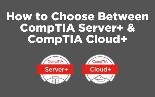 CompTIA Server+ or CompTIA Cloud+ logos