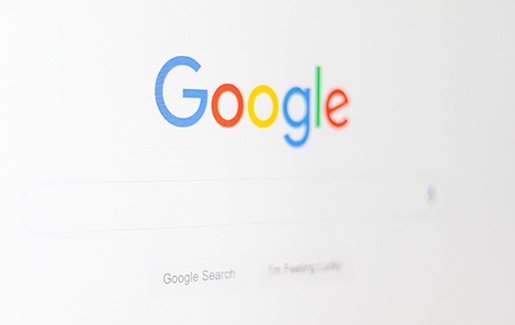 The Google homepage on a computer