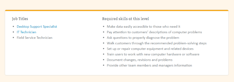 IT Support Job Titles and Skills