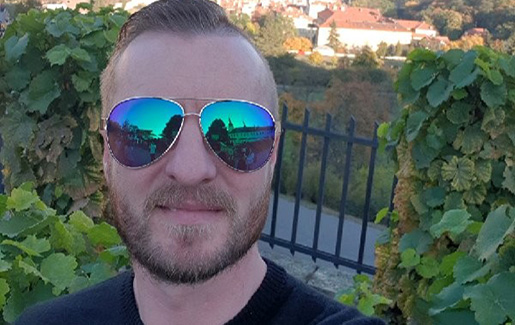 A selfie of Michael Deegan, who has both CompTIA Security+ and PenTest+