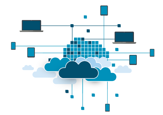 An abstract image showing multi-cloud management