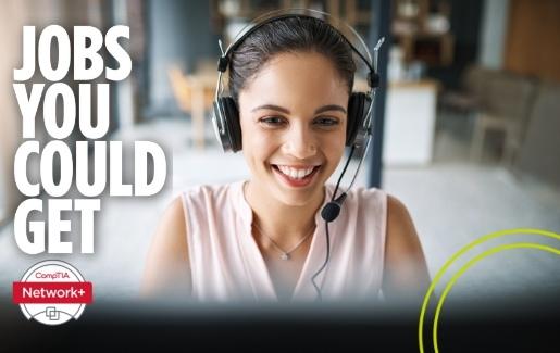 Woman IT pro working in networking