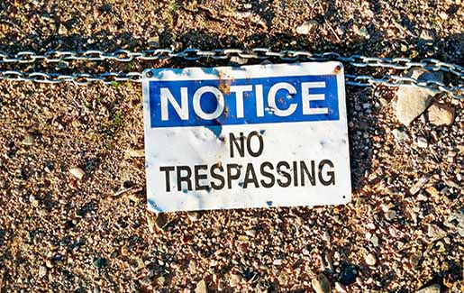 A no trespassing sign illustration network segmentation