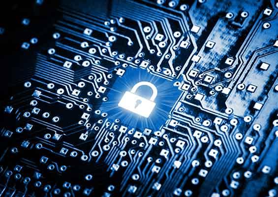 An image of a padlock on a hard drive