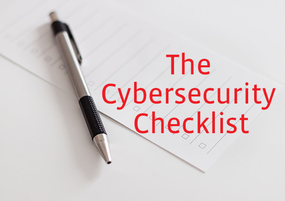 A photo of a pen and a checklist