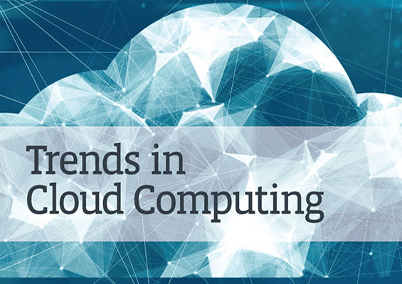 An abstract painted cloud with the words Trends in Cloud Computing
