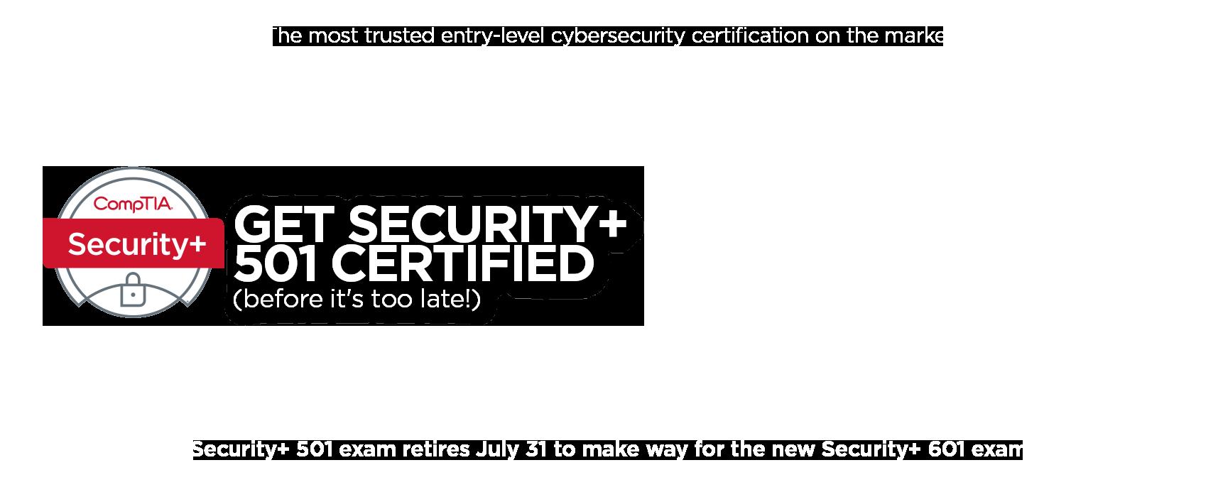 CompTIA security+ retire