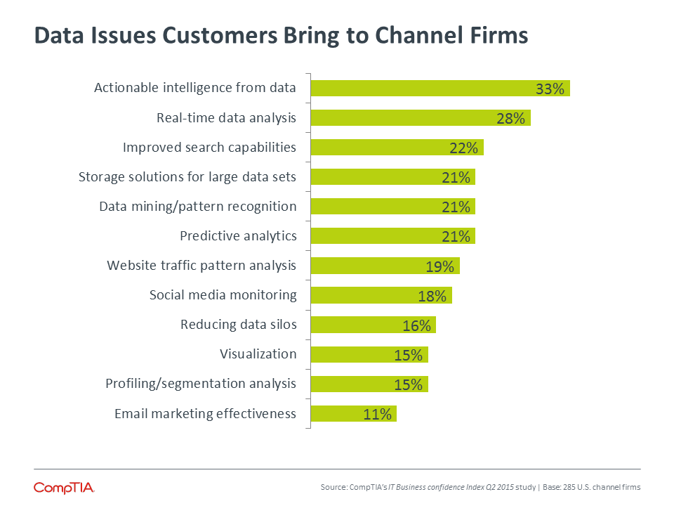 Data Issues Customers Bring to Channel Firms