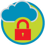 An illustration of a cloud and a padlock