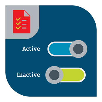 An illustration of active and inactive toggles.