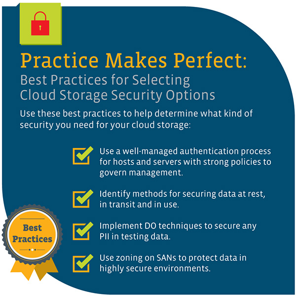 Practice makes perfect: best practices for selecting cloud storage security options