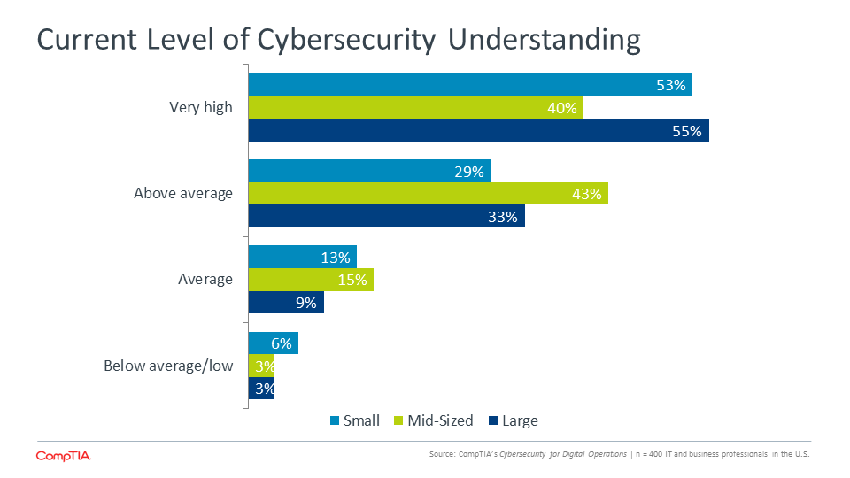 Current Level of Cybersecurity Understanding