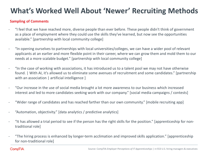 What's Worked Well About Newer Recruiting Methods