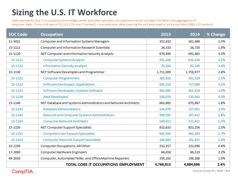 Sizing the U.S. IT Workforce