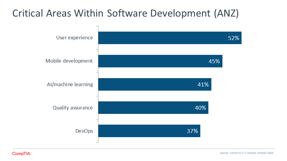 Critical Areas Within Software Development (ANZ)