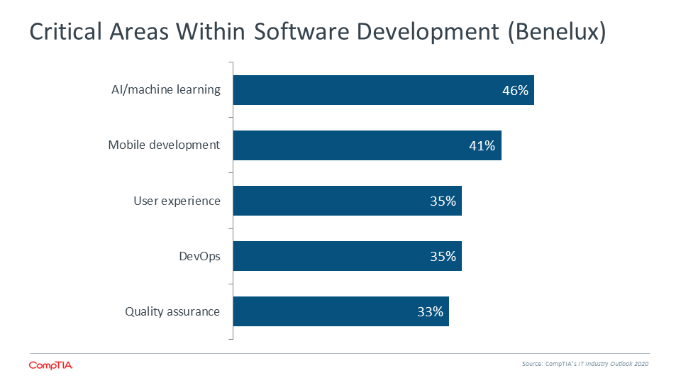 Critical Areas Within Software Development (Benelux)