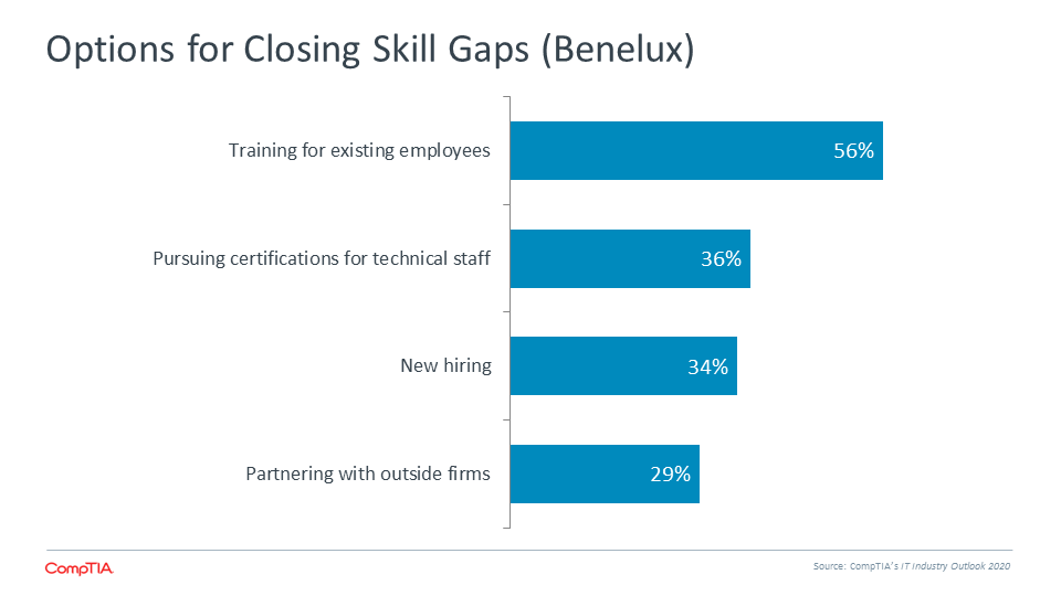 Options for Closing Skill Gaps (Benelux)