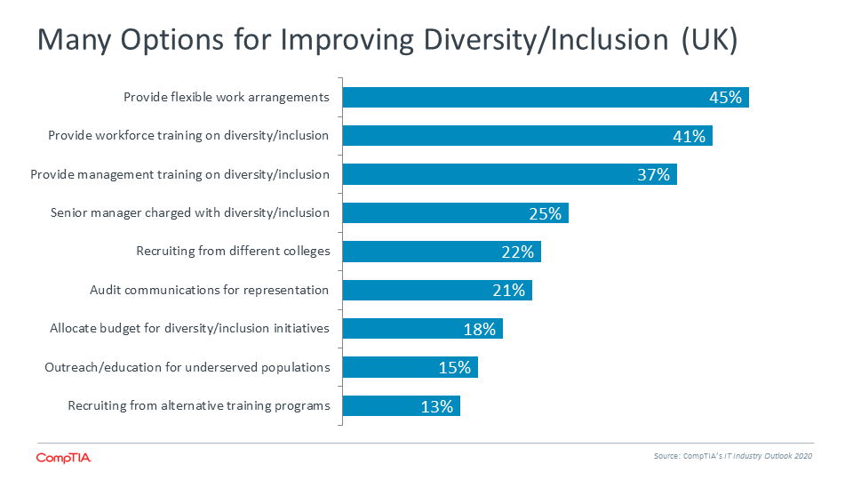 Many Options for Improving Diversity Inclusion (UK)