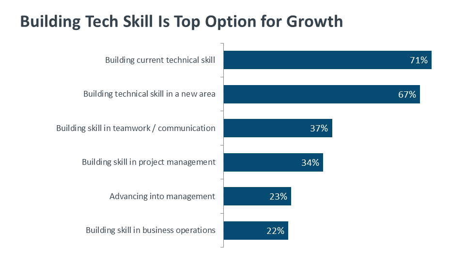 Building Tech Skill Is Top Option for Growth