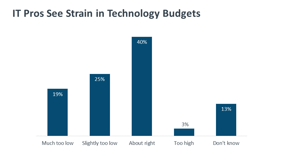 IT Pros See Strain in Technology Budgets