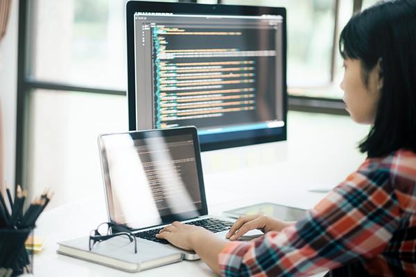 A software developer using platform as a service (PaaS)