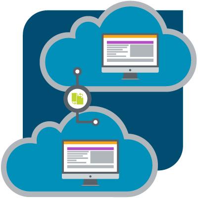 A diagram illustrating cloud storage snapshots and clones